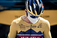 (would you recognize) Primoz Roglic (SVK/Jumbo-Visma) at the race start in Nice?<br /> <br /> Stage 2 from Nice to Nice (186km)<br /> <br /> 107th Tour de France 2020 (2.UWT)<br /> (the 'postponed edition' held in september)<br /> <br /> ©kramon