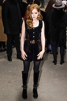 Ellie Bamber arrives at the Chanel Fashion Show during Paris Fashion Week : Haute Couture F/W 2017-2018 on January 24, 2017 in Paris, France.