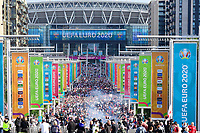 7th July 2021, Wembley Stadium, London, England; 2020 European Football Championships (delayed) semi-final, England versus Denmark;  Fans arrive for the game