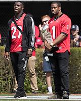 Athens, Georgia - April 21, 2018: Sanford Stadium, University of Georgia Football, G-Day.
