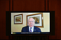 United States Senator Patrick Leahy (Democrat of Vermont) speaks during a US Senate Judiciary Committee business meeting  in the Hart Senate Office Building on Capitol Hill in Washington, DC on October 15, 2020. <br /> Credit: Mandel Ngan / Pool via CNP /MediaPunch