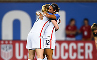 Cincinnati, OH - Tuesday September 19, 2017: Lynn Williams celebrates during an International friendly match between the women's National teams of the United States (USA) and New Zealand (NZL) at Nippert Stadium.