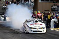 Jul. 19, 2013; Morrison, CO, USA: NHRA pro stock driver Greg Anderson during qualifying for the Mile High Nationals at Bandimere Speedway. Mandatory Credit: Mark J. Rebilas-