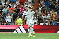 Real Madrid's Nacho the XXXVII Bernabeu trophy between Real Madrid and Stade de Reims at the Santiago Bernabeu Stadium. August 15, 2016. (ALTERPHOTOS/Rodrigo Jimenez) /NORTEPHOTO