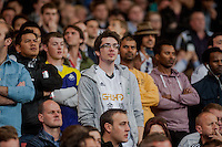 LONDON, ENGLAND - MAY 11 Swansea City fans during  to the Premier League match between Arsenal and Swansea City at Emirates Stadium on May 11, 2015 in London, England.  (Photo by Athena Pictures/Getty Images)