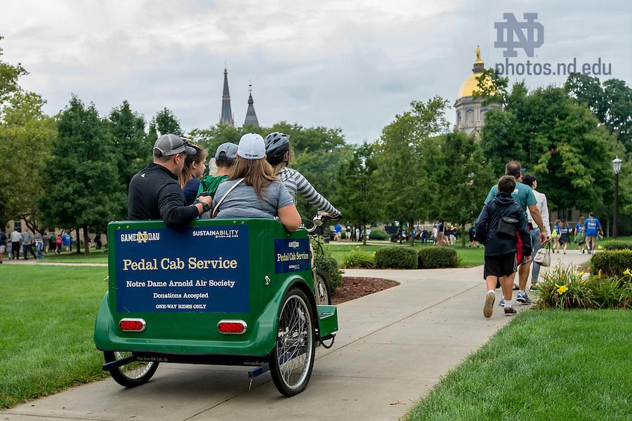 September 10, 2016; Pedal cab service. (Photo by Matt Cashore)