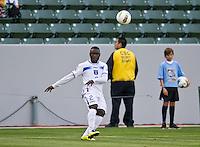 CARSON, CA - March 23, 2012: Wilmer Casildo (2) of Honduras during the Honduras vs Panama match at the Home Depot Center in Carson, California. Final score Honduras 3, Panama 1.