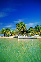South Water Caye a private small island near Dangriga, Belize. South Water Caye, Belize Central America.