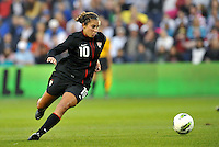 USWNT midfielder Carli Lloyd in action.....USWNT played to a 1-1 tie with Canada at LIVESTRONG Sporting Park, Kansas City, Kansas.