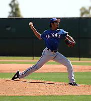 Teodoro Ortega - Texas Rangers 2019 extended spring training (Bill Mitchell)