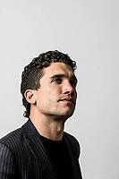 Jaime Lorente poses during a portrait session.