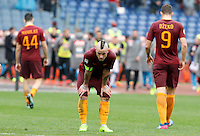 Roma's Radja Nainggolan reacts at the end of the Italian Serie A football match between Roma and Napoli at Rome's Olympic stadium, 4 March 2017. Napoli won 2-1.<br /> UPDATE IMAGES PRESS/Riccardo De Luca