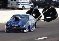 Sep 28, 2013; Madison, IL, USA; NHRA pro stock driver Rodger Brogdon during qualifying for the Midwest Nationals at Gateway Motorsports Park. Mandatory Credit: Mark J. Rebilas-