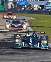 19 March 2011: The #01 HPD ARX-01e o David Brabham, Simon Pagenaud and Marina Franchitti leads a pack of cars during the 12 Hours of Sebring, Sebring Internatonal Raceway, Sebring, FL. (Photo by Brian Cleary/www.bcpix.com)