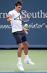 August  17, 2018:  Roger Federer (SUI) defeated Leonardo Mayer (ARG) 6-1, 7-6, at the Western & Southern Open being played at Lindner Family Tennis Center in Mason, Ohio. ©Leslie Billman/Tennisclix/CSM