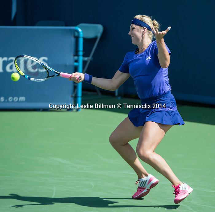Anastasia Pavlyuchenkova (RUS) loses to Maria Sharapova (RUS) 6-4, 7-6 at the Western & Southern Open in Mason, OH on August 14, 2014.