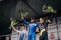 51th Le Samyn 2019 podium:<br /> 1/ Florian SÉNÉCHAL (FRA/Deceuninck-Quick Step)<br /> 2/ Aimé De Gendt (BEL/Wanty-Gobert)<br /> 3/ Niki Terpstra (NED/Direct Energie)<br /> <br /> Quaregnon to Dour (BEL): 200km<br /> <br /> ©kramon