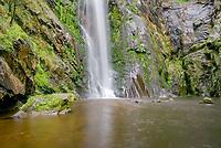 waterfall, River Toxa falls, Silleda, Pontevedra, Spain.