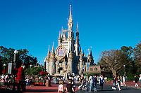 Cinderella's Castle,  Walt Disney World Theme Park, Orlando, Florida