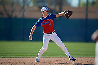 Kyle Chmielewski during the Under Armour All-America Pre-Season Tournament, powered by Baseball Factory, on January 19, 2019 at Fitch Park in Mesa, Arizona.  Kyle Chmielewski is a shortstop from McKinney, Texas who attends John Paul II High School and is committed to Lafayette College.  (Mike Janes/Four Seam Images)