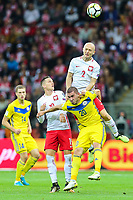 04.09.2017, Warszawa, pilka nozna, kwalifikacje do Mistrzostw Swiata 2018, Polska - Kazachstan, Michal Pazdan (POL), Lukasz Piszczek (POL), Roman Murtazayev (KAZ), Sergey Khizhnichenko (KAZ), Poland - Kazakhstan, World Cup 2018 qualifier, football, fot. Tomasz Jastrzebowski / Foto Olimpik<br /><br /> POLAND OUT !!! *** Local Caption *** +++ POL out!! +++<br /> Contact: +49-40-22 63 02 60 , info@pixathlon.de