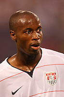 United States midfielder DaMarcus Beasley (17). The men's national teams of the United States and Argentina played to a 0-0 tie during an international friendly at Giants Stadium in East Rutherford, NJ, on June 8, 2008.