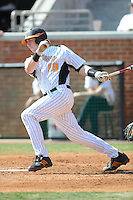 Matt Duffy #19 of the Tennessee Volunteers at Lindsey Nelson Stadium in game against LSU Tigers in Knoxville, TN March 27, 2010 (Photo by Tony Farlow/Four Seam Images)