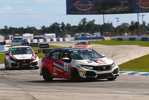 Skip Barber Racing School Honda Civic Type R:Mike Ogren<br /> <br /> LA Honda World Racing Honda Civic Type R:Mike LaMarra