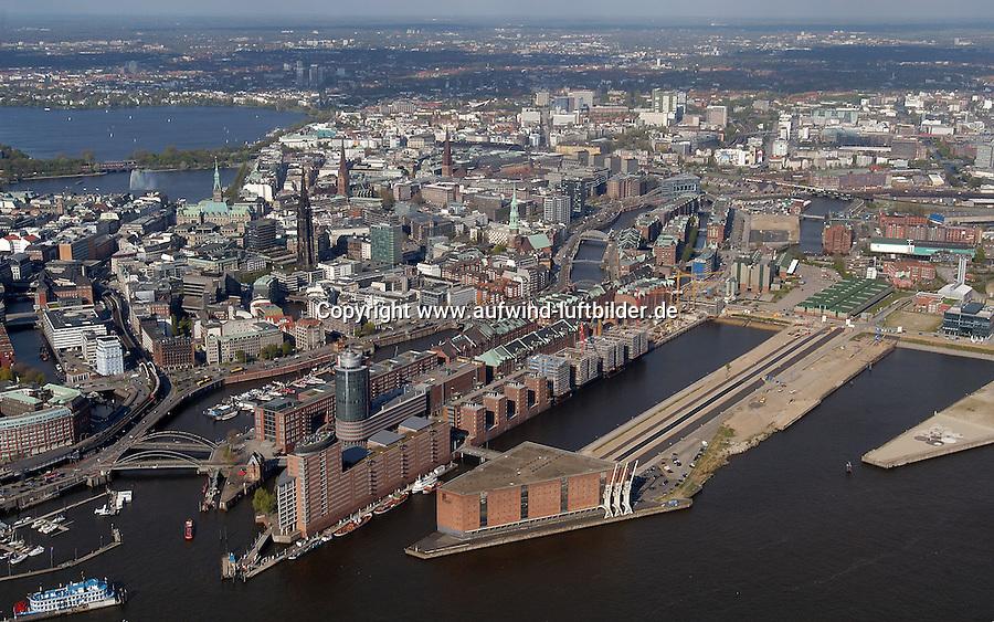 Deutschland, Hamburg, Speicherstadt, Hafencity, Elbe, Kaispeicher A, HTC, Innenstadt, Alster