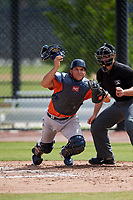 Houston Astros Oscar Campos (9) during a Minor League Spring Training Intrasquad game on March 28, 2018 at FITTEAM Ballpark of the Palm Beaches in West Palm Beach, Florida.  (Mike Janes/Four Seam Images)