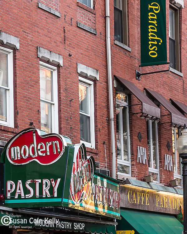 Modern Pastry in the North End of Boston, Massachusetts, USA