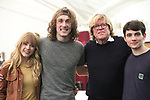 """Erika Olson, Conor Ryan, Peter Noone and Jonny Amies during the Sneak Peak Meet the cast and creative team of the World Premiere production of """"My Very Own British Invasion"""" on January 16, 2019 at the Church of Saint Paul The Apostle in New York City."""
