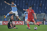 Robert Lewandowski of FC Bayern scores the 0-1 goal<br /> during the Champions League round of 16 football match between SS Lazio and Bayern Munchen at stadio Olimpico in Rome (Italy), February, 23th, 2021. Photo Andrea Staccioli / Insidefoto