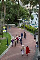 Ft. Lauderdale, Florida.  New River River Walk.