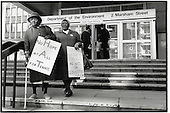 Tenants from estates which the government plans to hand over to Housing Action Trusts (HATs) hand in a petition of protest at the Department of the Environment on the day the Lords debate the Housing Bill,.