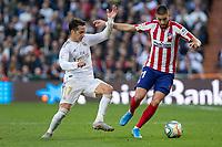 Real Madrid´s Luka Jovic and Atletico de Madrid´s Yannick Carrasco during La Liga match. February 1, 2020. <br /> (ALTERPHOTOS/David Jar)<br /> 01/02/2020 <br /> Liga Spagna 2019/2020 <br /> Real Madrid - Atletico Madrid  <br /> Foto Alterphotos / Insidefoto <br /> ITALY ONLY