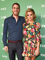 "LOS ANGELES - FEBRUARY 27: Tony Yacenda (L) and Taylor Misiak attend the red carpet premiere event for FXX's ""Dave"" at the Directors Guild of America on February 27, 2020 in Los Angeles, California. (Photo by Frank Micelotta/FX Networks/PictureGroup)"