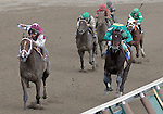 16 August 2008: Jockey Alan Garcia guides two-year-old first-time starter Girolamo to a maiden win at Saratoga Race Course in Saratoga Springs, New York.