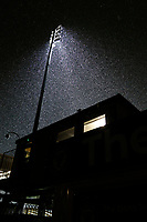 A general view of the snow fall during the Sky Bet League 1 match between AFC Wimbledon and Fleetwood Town at the Cherry Red Records Stadium, Kingston, England on 22 January 2019. Photo by Carlton Myrie / PRiME Media Images.