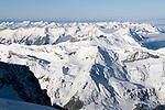 CHE, Schweiz, Kanton Bern, Berner Oberland, Grindelwald: Blick vom Jungfraujoch ueber die Berner Alpen | CHE, Switzerland, Bern Canton, Bernese Oberland, Grindelwald: view from Jungfraujoch across Bernese Alps