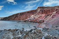 The spectacular red beach in Santorini, Greece