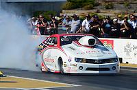 May 18, 2012; Topeka, KS, USA: NHRA pro stock driver Greg Stanfield during qualifying for the Summer Nationals at Heartland Park Topeka. Mandatory Credit: Mark J. Rebilas-