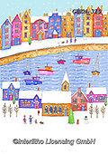 Kate, CHRISTMAS LANDSCAPES, WEIHNACHTEN WINTERLANDSCHAFTEN, NAVIDAD PAISAJES DE INVIERNO, paintings+++++Harbour Scene 2,GBKM319,#XL#