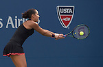 Madison Keys (USA) loses to Serena Williams (USA) 6-3, 6-3 at the US Open in Flushing, NY on September 6, 2015.