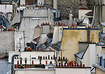 ueber den Daechern von Paris, Rooftops<br /> <br /> ***HighRes auf Anfrage, VOE nur nach Ruecksprache***<br />  ***Keine Social_Media Nutzung***<br /> <br /> Engl.: Europe, France, Paris, above the roofs of Paris, rooftops, houses, chimneys, May 2014<br /> ***Highres on request, publication only after consultation with laif***<br /> ***No use in social media***