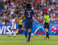 PARIS,  - JUNE 28: Wendie Renard #3 yells to her team during a game between France and USWNT at Parc des Princes on June 28, 2019 in Paris, France.
