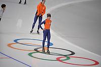 OLYMPIC GAMES: PYEONGCHANG: 17-02-2018, Gangneung Oval, Long Track, Training session, Jorrit Bergsma (NED), ©photo Martin de Jong