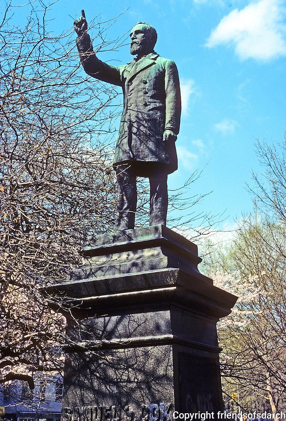 New York City: Statue of Samuel Cox, an Ohio and New York politician, erected by letter carriers.  Tompkins Square Park, 1891. Photo '78.