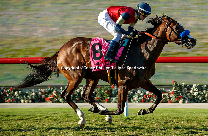 DEL MAR, CA  SEPTEMBER 4: #8 Going to Vegas, ridden by Flavien Prat, easily wins the John C. Mabee Stakes (Grade ll) geared down on September 4, 2021, with Del Mar Thoroughbred Club in Del Mar, CA.  (Photo by Casey Phillips/Eclipse Sportswire/CSM)