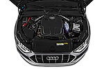 Car stock 2020 Audi A4-Allord Base 5 Door Wagon engine high angle detail view